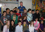 # ci264 Cosmonaut A.Samokutyayev with school students - Click Image to Close