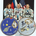 # spp087a Soyuz TMA-9 crew signed patch