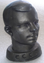 # sscp097 Yuri Gagarin metal bust from 60's