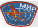 # aup142 Cosmonauts Krikalev,Lyakhov and Savinykh signed MIR patch