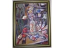 # un140 Lunch on Orbite oil painting of I.Borodayev - Click Image to Close