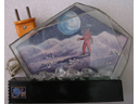 # un143 Cosmonaut on the Moon old desk lamp souvenir