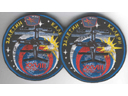 # fp092A Soyuz TM-28 patches with MIR badges flown on