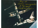 # iph299 First MIR-Shuttle docking signed photos - Click Image to Close