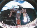 # iph700 STS-74-MIR photo signed-notared by S.Krikalev