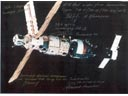 # iph800 Five MIR cosmonauts signed-inscribed photo