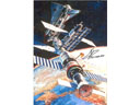 # iph700b Buran-MIR docking photo signed by Krikalev