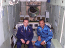 # ci300 On board MIR station and near Soyuz TMA with cosmonaut Sergei Zaletin