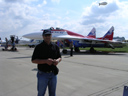 # ci298 At Moscow International Airshow in Zhukovskiy near Mig-29 Swifts team aircraft