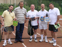# ci311 With cosmonauts Kubasov, Laveikin and Poleschuk at tennis court