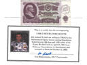 # fb305 25 Soviet Roubles flown on ISS bill
