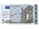# fb310 Flown 5 Euro banknote