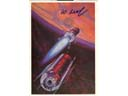 # ma613 A.Leonov artwork card There`s Mars Ahead