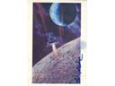 # ma621 A.Sokolov artwork card Luna-16 Near The Moon