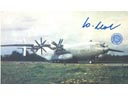 # ma370 An-22 ANTEI aircraft flown in space card