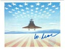 # ma600 R.McCall COLUMBIA`S FIRST LANDING art flown c
