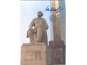 # ma255a Tsiolkovskiy monument flown card