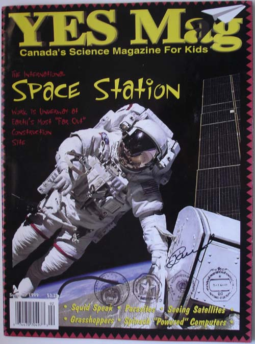 # mir500 Flown Canadian space magazine YES