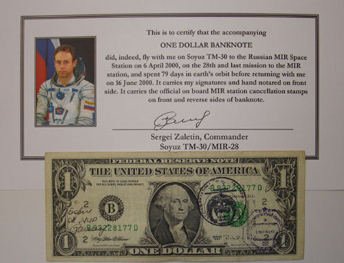 # mir555 One US Dollar Flown Banknote