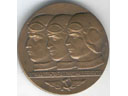 # avmed101 Moscow-North Pole-USA bronze commemorative medal