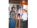 # ic100 With Alexei Leonov in his art studio
