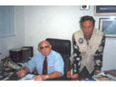 # ic140 Photos with a friend-cosmonaut Alexei Leonov in his Alfa-bank office in Moscow.September 1991