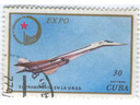 # aairl402 Tu-144 Cuban and Soviet stamps