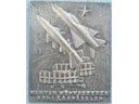 # aui251 Mig-21 Hungarian air deffence bronze wall hanging