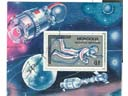 # astp109e Mongolian stamp block signed by Leonov - Click Image to Close