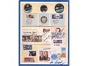 # astp092 ASTP memorabilia exhibit card flown on Soyuz TMA-2/ISS