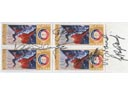 # astp109 ASTP stamps autographed by 5 members of flight