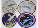 # spp093 Autographed Personal patches of ISS-12 crew