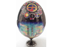 # dsk111 Intercosmos handpainted wooden presentation egg