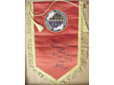 # pnt136 Cosmonaut Training Center Hydrolaboratory pennant signed by A.Balandin