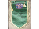 # pnt140 Space Station MIR logo pennants signed/notared by MIR cosmonaut A.Balandin