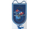 # pnt146 ISS-Energia 2002 autographed by cosmonaut Poleshuk pennant