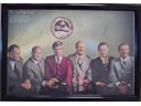 # pstnew113 ASTP signed by 5 members of flight framed poster