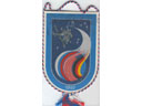# fpit251 Soyuz TM-25/MIR flown pennant from cosmonau - Click Image to Close
