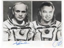 # soy900 Cosmonauts Dzhanibekov and Grechko signed photo(Soyuz T-13, T-14)