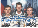 # cspc130 Soyuz TM-22 team signed/inscribed colour photo