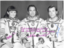 # cspc133 Soyuz T-5 Popov, Serebrov, Savitskaya inscribed photo