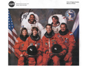 # cspc119 STS-63 Discovery shuttle crew signed NASA print