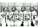 # cspc144 Soyuz-31 cosmonauts signed photo of main team with back ups