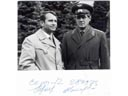 # cspc160 Soyuz-12 team signed flown photo