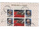 # ast106 Voskhod-2 Belyayev and Leonov signed stamps