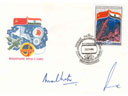 # buca210 Indian cosmonauts Malhotra and Sharma signed cover