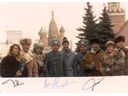 # buca204 French back up cosmonaut M.Tognini with Soyuz TM-7 cosmonauts in Moscow.