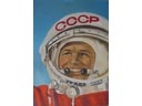 # spnt112 Yuri Gagarin portrait oil painting of A.Dzhabarov