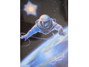 # spmt099 Alexei Leonov OVER THE PLANET spacewalk limited edition signed lithograph - Click Image to Close