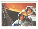 # sprnt201 Flown in space P.Lee artwork TOGETHER TO MARS card